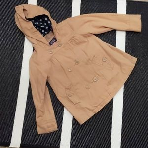 Childrens Place Khaki Trench Coat Size 3T